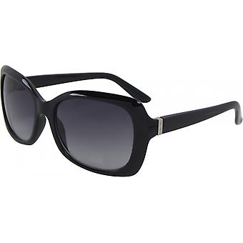 Sunglasses Unisex Wayfarer Kat. 3 black/grey (6145-C)