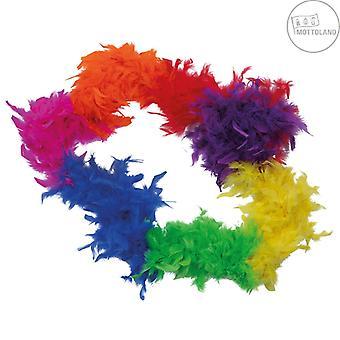 Boa Rainbow 50 gr Rainbow Colorful Feather Boa Accessory Women's Carnival