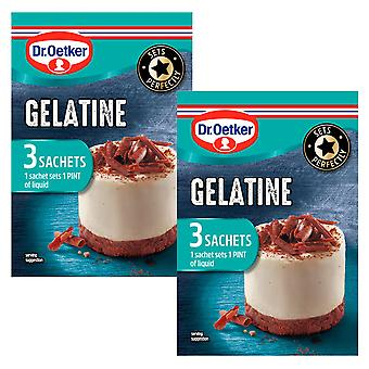 2 x 3 sachets Dr Oatker Gelatine Powder Baking Cooking Quick Set Sweet Savoury