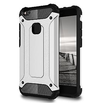 Shell for Huawei P10 Lite - Hard Armor Protection Silver Case