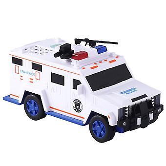 Piggy Bank Money Saving Box Safe Car Truck Plastic Password Toy