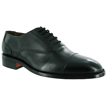 Amblers hombres james cuero soled oxford zapato negro 10874