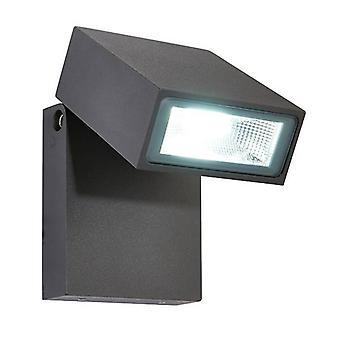 Saxby Morti - LED integrado 1 luz de pared al aire libre luz texturizada oscuro mate antracita, vidrio IP44