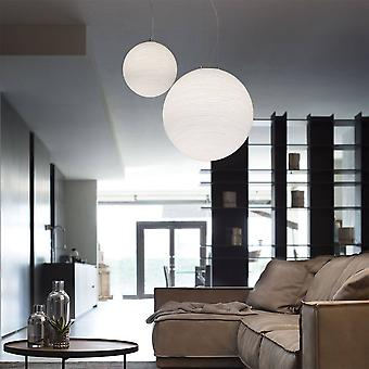 Ideel Lux Mapa - 1 Lys Globe Loft Vedhæng Hvid