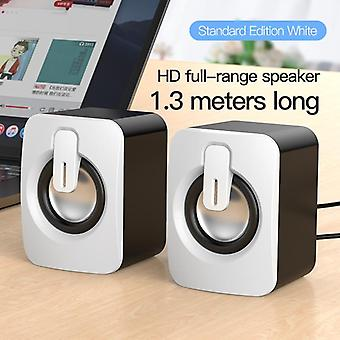 Mini Computer-speaker Usb-wired Speakers 3d-stere-sound Surround-loudspeaker For Pc/laptop/notebook Not-bluetooth Loudspeakers