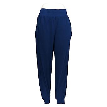 Anybody Women's Pants Cozy Knit Ribbed Jogger Blue A365604