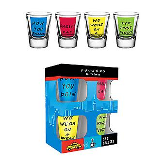 Friends Official Character Phrase Design Shot Glasses (Pack of 4)