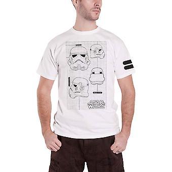 Star Wars T Shirt Stormtooper Imperial Army neue offizielle Herren weiß