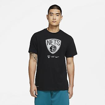 Nike Nba Brooklyn Nets Dri-fit T-shirt Black