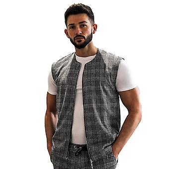 Belier Paris Clement Check Gilet Light Grey