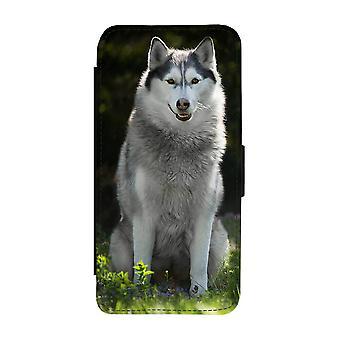 Hund Siberian Husky Samsung Galaxy S9 Brieftasche Fall