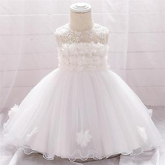 Infant Baby Dress- Lace Tulle Baptism Dresses 1st Year Birthday Beading,