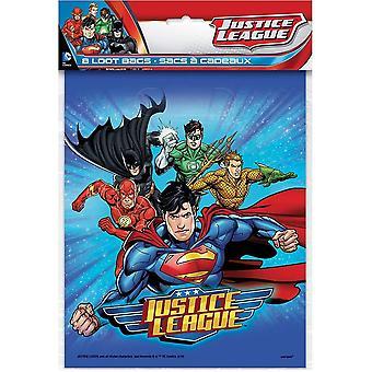 Justice League Party Väskor Presentpåsar Party Födelsedag 8 Piece Superheroes
