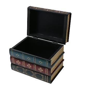 Holz-Buch-Box dekorative Aufbewahrungsbox für Mädchen Jungen Geschenke B-Typ