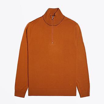 PS Paul Smith  - Zip Neck Pullover - Dark Orange