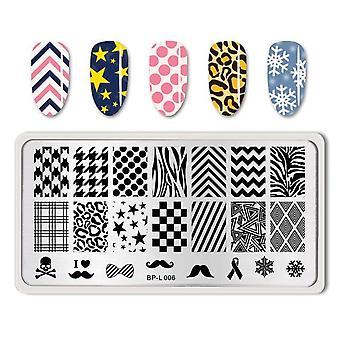 Nail Art Stamp Template Animal Geometric Lattice Image Pattern Impression Plaque d'impression
