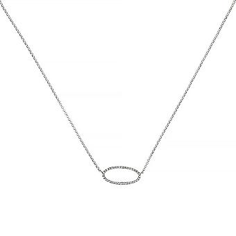 Collar de oro blanco - EXPRESSION- Diamantes 0.1 quilates