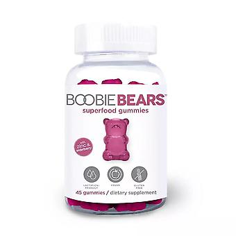 Boobiebears superfood الرضاعة gummies، و elderberry والزنك، 48 ea