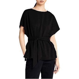 MERAKI Women's Relaxed Fit Alivia Tie Top,  Black, EU L (US 10)