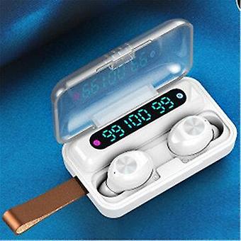 TWS بلوتوث LED عرض رقمي صغير في سماعة الأذن الأذن اللاسلكية هيفي