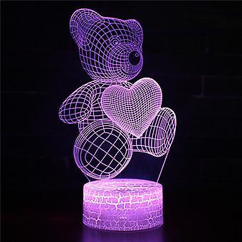 3D Touch Light Night 7 kleuren met afstandsbediening - Care Bears #537
