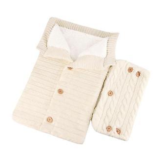 Newborn Baby Stroller Wrap Sleeping Winter Warm Blanket +pramhandrail 2pcs