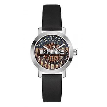 Harley Davidson 76L174 Women's Stars And Stripes Wristwatch
