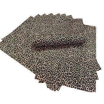 A4 الفهد بقعة بريق ورقة لينة اللمس غير سقيفة 100gsm حزمة من 10 ورقة