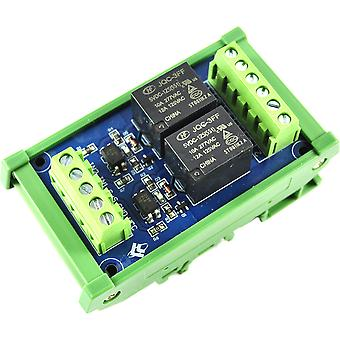 LC Technology 2 Ch 5V Relay Module on DIN Rail Mount
