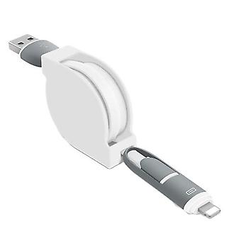 Apple Android Two-in-one Data Line 1m Retractable Data Cable