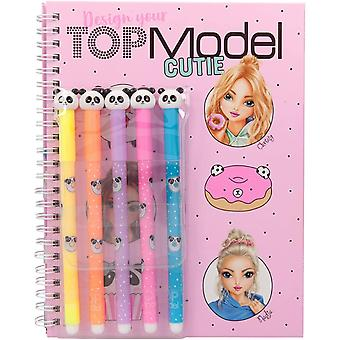 Depesche Topmodel Candy Cake Colouring Book With Fiber Pens