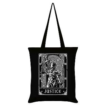 Dödliga Tarot Justice Tote Bag
