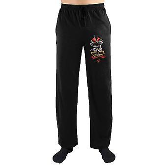 Street fighter v 5 logotipo imprimir masculino'calças de lounge sleepwear