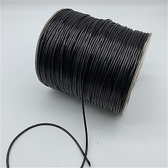 Corde noire de collier de corde de corde de fil de coton ciré