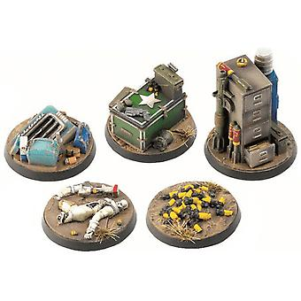 Fallout Wasteland Warfare Terrain Expansion målmarkörer 2