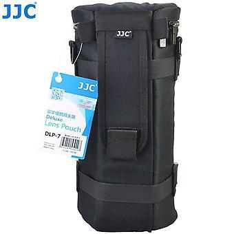 Jjc dlp-7 130 x 310 mm voděodolný deluxe pouzdro na čočky s popruhem - černá