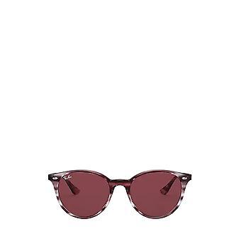 راي بان RB4305 مخطط بوردو هافانا النظارات الشمسية للجنسين