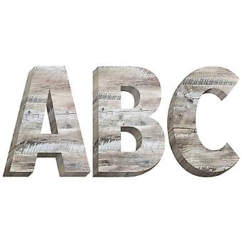"""Rustic Wood 2"""" Uppercase Letter Stickers, 78 Pieces"""