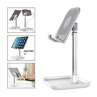 Lingchen universele desktop tablet telefoon telescopische beugel staan verstelbare hoogte en gratis uitbreiding voor 4 inch-11 inch apparaat voor iPhone