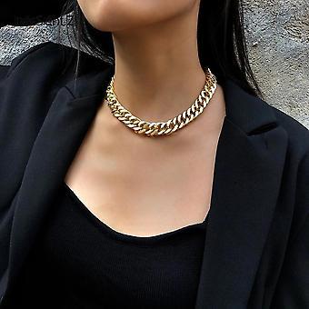 ヒップホップ縁石キューバ厚短いチョーカーネックレス