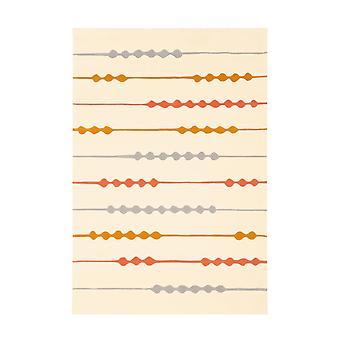 Fairber Carpet Cert Bege/Orange