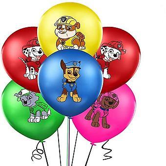 Nová tlapka hlídka narozeninová sada Chase Marshall Sky Rubble Latex balónky Postava