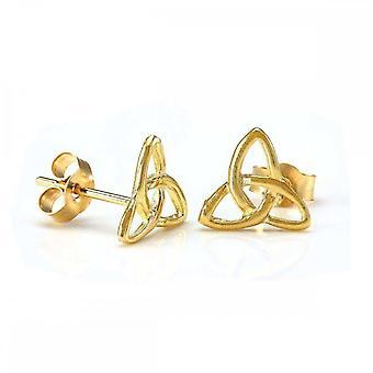 Eternity 9ct Gold Celtic Triangle Stud Earrings
