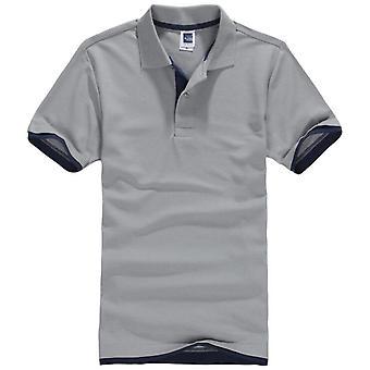 المذكر بولو قميص، رجال القطن قصير الأكمام قمم