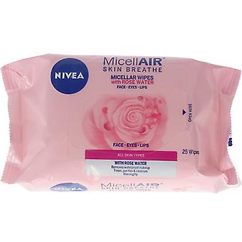 Make Up Remover Wipes MicellAir Rose Water Nivea (20 uds)