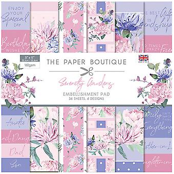 The Paper Boutique - Serenity Gardens Collection - 8x8 Embellishments Pad