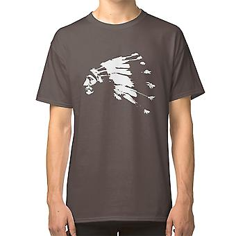 Whirling Horse Sioux Indian Chief T shirt Headdress Native