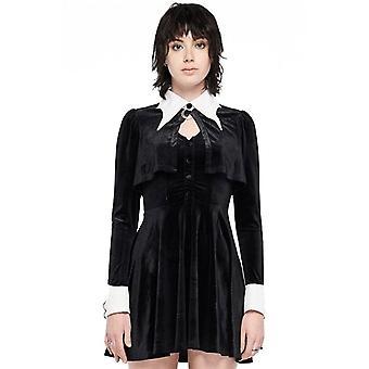 Punk Rave Wednesday Addams Velvet Gothic Dress