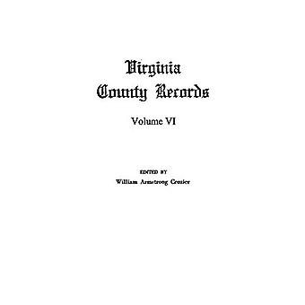 Virginia County Records by William A Crozier - 9780806304694 Book