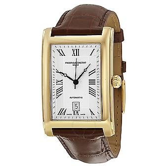 Frederique Constant Carree Automatic Silver Dial Leather Strap Men's Watch 303MC4C25
